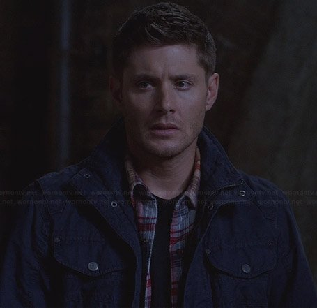Dean's navy blue utility jacket on Supernatural