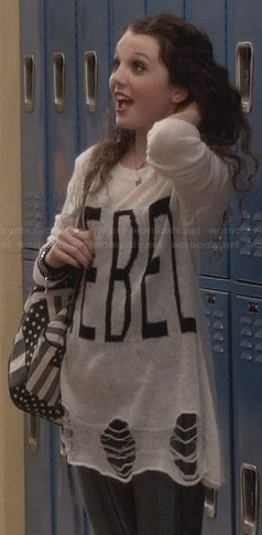 "Dorrit's ""Rebel"" sweater on The Carrie Diaries"