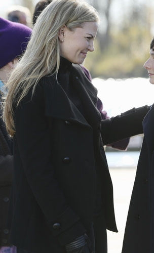 Emma's black peacoat on Once Upon a Time