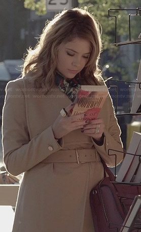 Hanna's camel belted coat on Pretty Little Liars