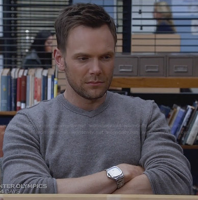 Jeff's grey v-neck sweater on Community