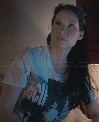 Joan's ecti tshirt on Elementary