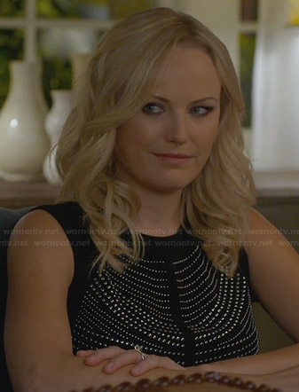 Kate's black studded top on Trophy Wife