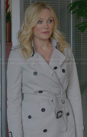 Kate's trench coat on Trophy Wife