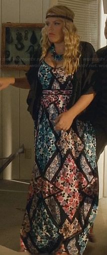 Laurie's mixed floral print maxi dress on Cougar Town