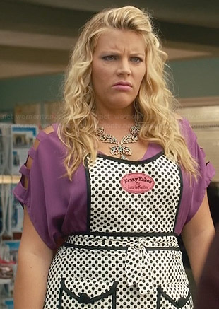 Laurie's polka dot apron on Cougar Town