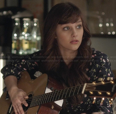 Layla's blue floral dress on Nashville
