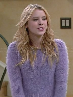 Lennox's purple fluffy sweater on Melissa & Joey