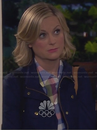 Leslie's blue jacket with gold buttons on Parks & Rec