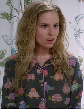 Lisa's turtle pajamas on Suburgatory