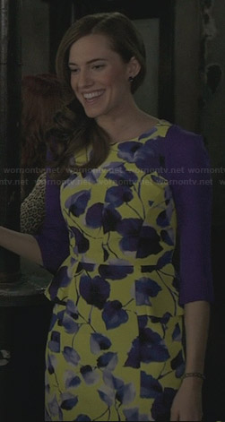 Marnie's yellow floral dress on Girls