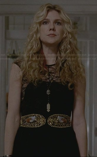 Misty's black lace dress on AHS Coven