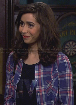 The Mother's pink and blue checked shirt on HIMYM