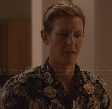 Nolan's grey floral shirt on Revenge