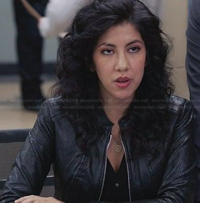 Gina's heart print sweater on Brooklyn Nine-Nine