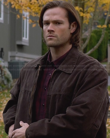 Sam's brown zip front jacket on Supernatural
