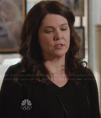 Sarah's black zip up jacket on Parenthood
