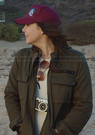 Sarah's green utility jacket on Parenthood