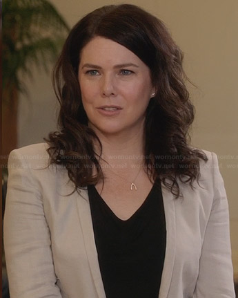Sarah's light grey blazer on Parenthood