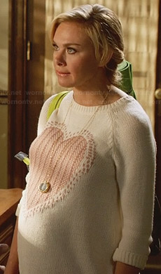 Shelby's heart maternity sweater on Hart of Dixie