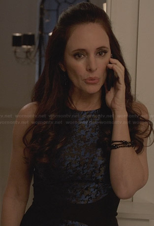 Victoria's blue camo dress on Revenge