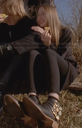 Zoe's buckle detail ankle boots on American Horror Story