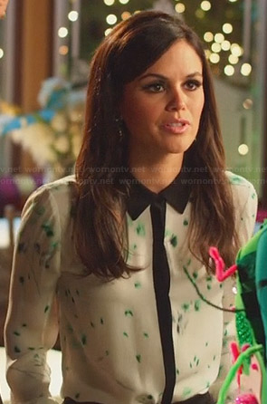 Zoe's green and white printed shirt on Hart of Dixie