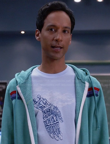 Abed's mechanical hand tee on Community