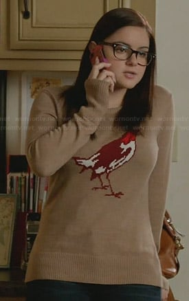 Alex's tan bird sweater on Modern Family