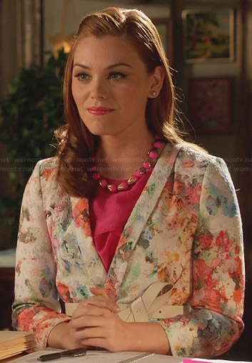 AnnaBeth's floral blazer on Hart of Dixie