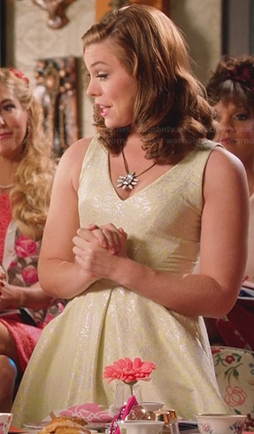 AnnaBeth's yellow and silver dress on Hart of Dixie