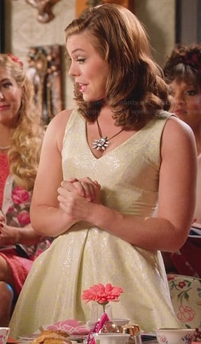 AnnaBeth's yellow jacquard dress on Hart of Dixie