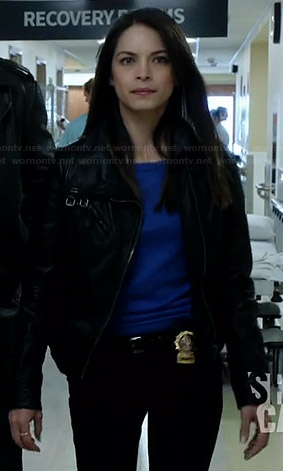 Cat's black leather jacket on BATB