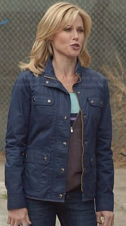 Claire's blue utility jacket on Modern Family