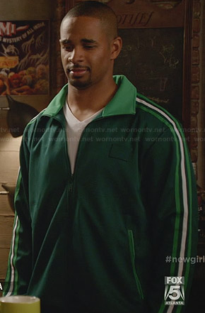 Coach's green track jacket on New Girl