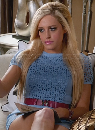 Dalia's blue eyelet lace dress on Suburgatory