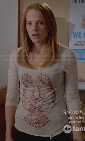 Daphne's owl tee on Switched at Birth