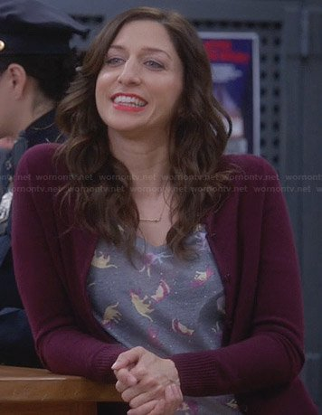Gina's grey cat tee on Brooklyn99