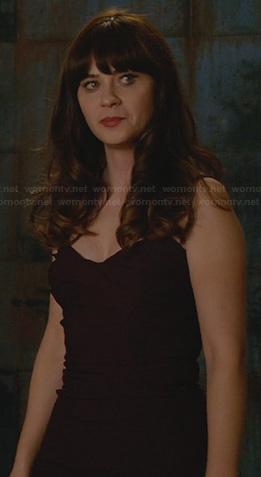 Jess's purple dress on New Girl
