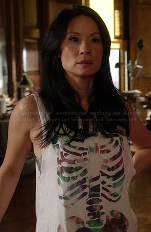 Joan's skeleton tank top on Elementary