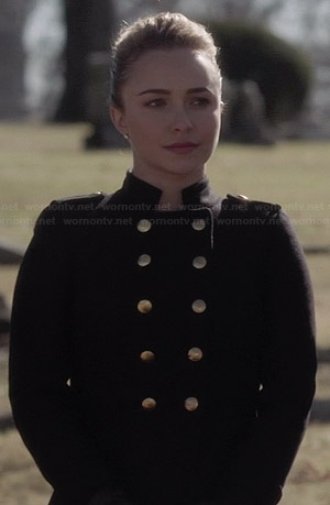 Juliette's black military coat on Nashville