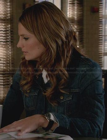 Beckett's denim jacket on Castle