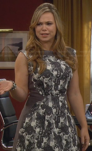 Kristin's grey lace dress on Last Man Standing