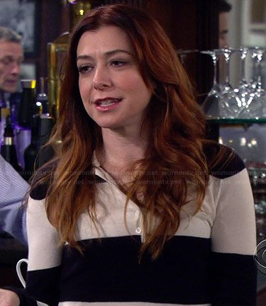 Lily's navy and white striped sweater on How I Met Your Mother