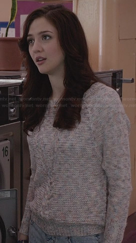 Maggie's marled knitted sweater on The Carrie Diaries