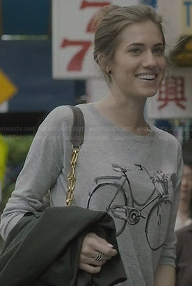 Marnie's grey bicycle sweater on Girls