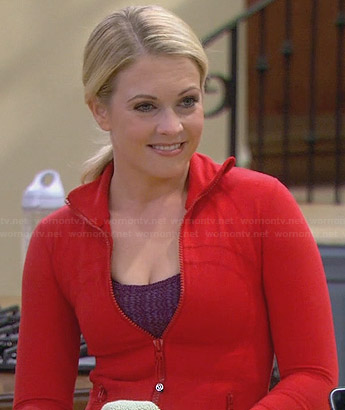 Mel's red track jacket on Melissa and Joey