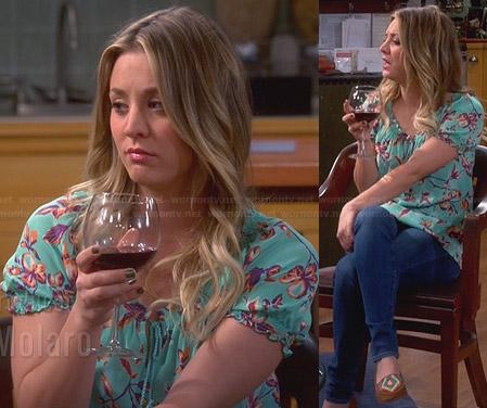 Penny's diamond embroidered flats on The Big Bang Theory