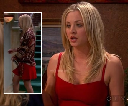 Penny's red dress on the Valentines day ep of The Big Bang Theory