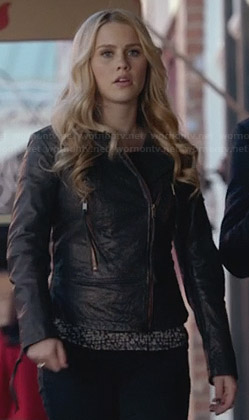 Rebekah's leather jacket on The Originals